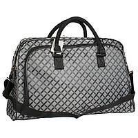 Женская дорожная сумка облегченная серого цвета
