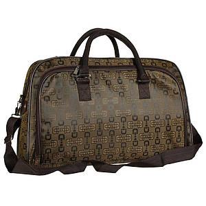Женская дорожная сумка облегченная бронзового оттенка