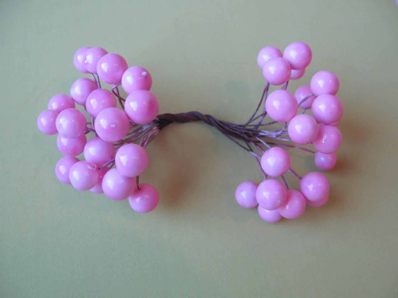 Ягоды гладкие 10 мм розовые