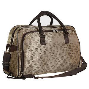 Женская дорожная сумка облегченная с золотистым оттенком