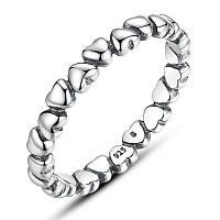 """Серебряное кольцо Пандора (Pandora) """"С любовью навсегда"""""""
