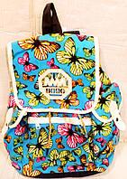 Рюкзак  бабочки  237-2 Cotton голубой