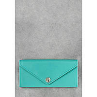 Женский кожаный кошелек бирюзового цвета 1.0 Тиффани