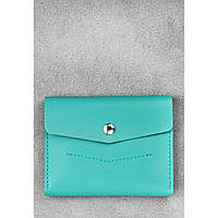 Женский кожаный кошелек бирюзовый 2.0 Тиффани
