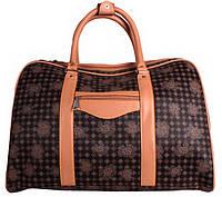 Дорожная сумка из искусственной кожи коричневая