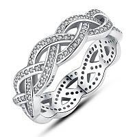 """Серебряное кольцо Пандора (Pandora) """"Плетение"""""""