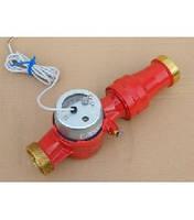 Счетчик воды (водомер) с импульсным выходом, тип JS, Ду-25, для горячей воды муфтовый, PoWoGaz-Польша