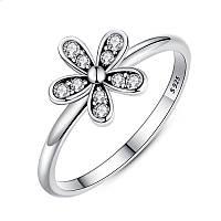 """Серебряное кольцо Пандора (Pandora) """"Сверкающая маргаритка"""""""