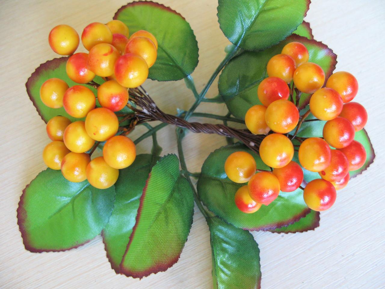 Ягоды гладкие 10 мм желтые с красным бочком