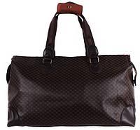 Дорожная сумка и сумка для фитнеса из искусственной кожи коричневая