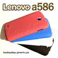 Бампер чехол + защитная пленка для lenovo a586 a769  накладка