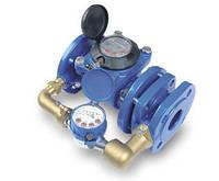 Счетчик воды (водомер) комбинированный, тип MWN/JS-S, Ду-80, для холодной воды фланцевый, PoWoGaz