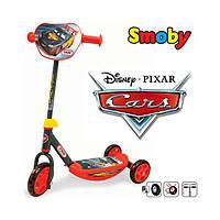 Детский самокат трехколесный Smoby Тачки 750118