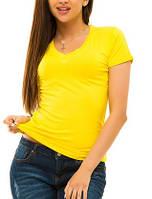 Женская футболка однотонная, большие размеры
