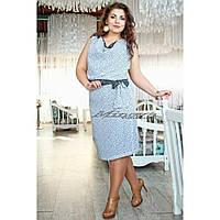 """Элегантное и нежное женское платье """"Креп-шифон"""" на подкладке, пояс в комплекте 46, 48, 52 размер норма"""