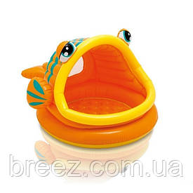 Детский надувной бассейн Intex 57109 Рыбка с навесом 124 х 109 х 71 см