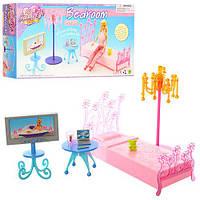 Мебель 2914 (36шт) спальня, кровать, телевизор, торшер, столик, в кор-ке,30,5-15,5-6см