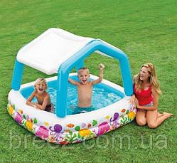 Детский надувной бассейн Intex 57470 Аквариум со съемным навесом 157 х 157 х 122 см, фото 2
