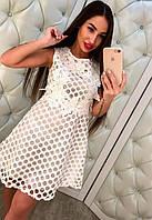 Красивое короткое платье с кружевом