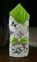 Осенний конверт на выписку, одеяло для новорожденного