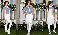 Удлиненная рубашка туника женская 44