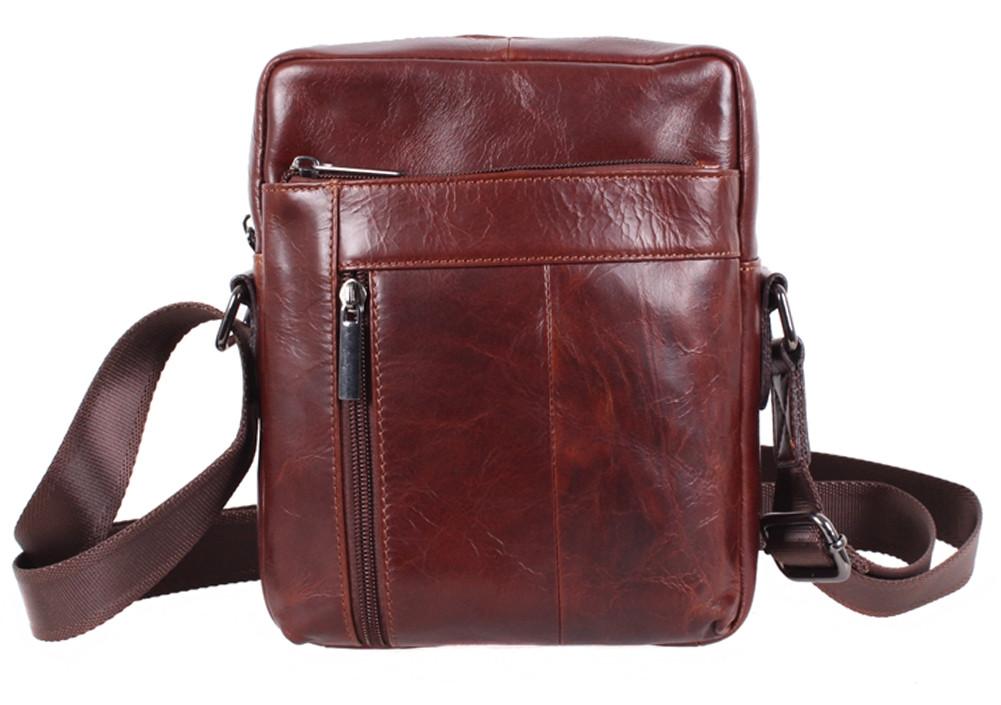 Мужская кожаная сумка коричневая Vintage TR-9195-2