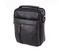 Небольшая мужская кожаная сумка-борсетка черная Vintage TR-9354-1