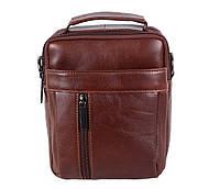 Небольшая мужская кожаная сумка-борсетка коричневая Vintage TR-9354-1