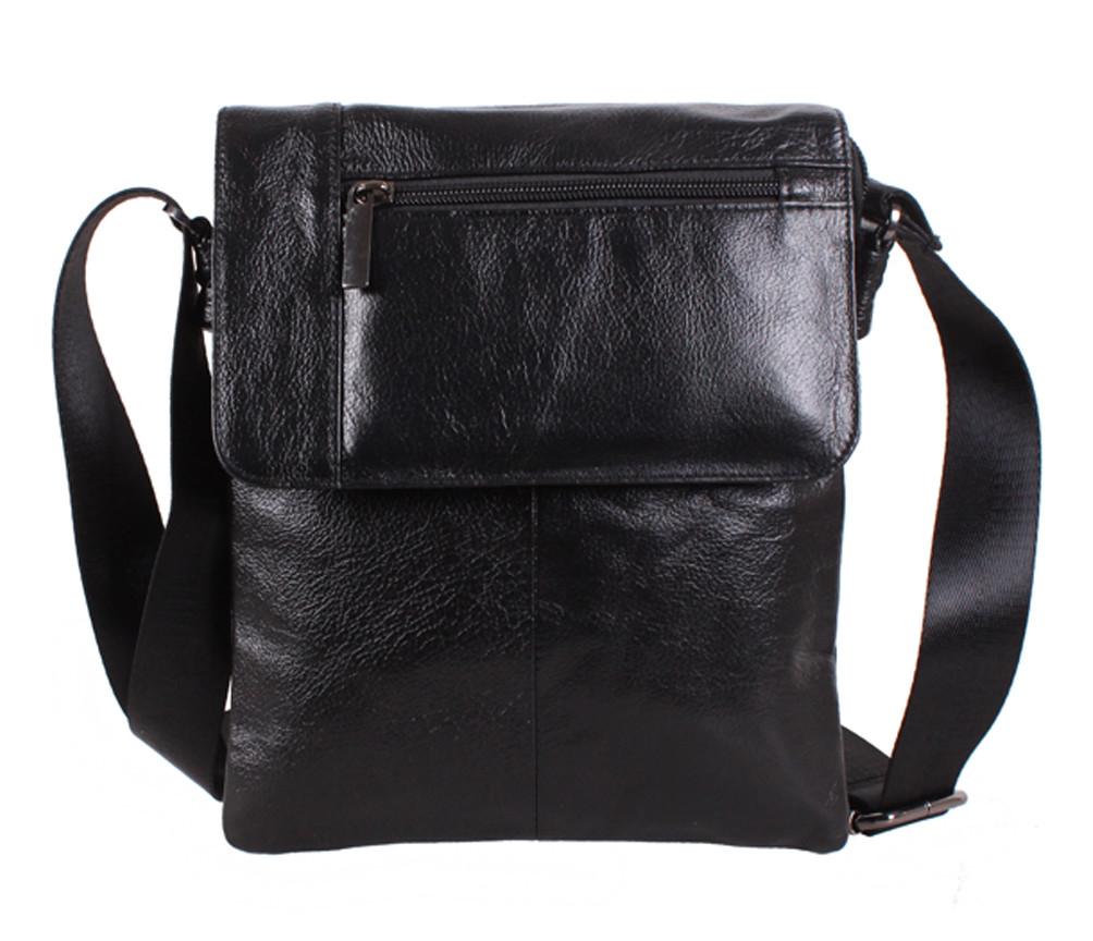 f7294962c0b6 Повседневная мужская кожаная сумка черная Vintage TR-38032-1 - АксМаркет в  Киеве