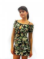 Домашнее платье, ночная сорочка из вискозы с коротким рукавом. Розница, опт в Украине. Разные цвета и размеры