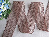 Кружево в цветочек коричневое