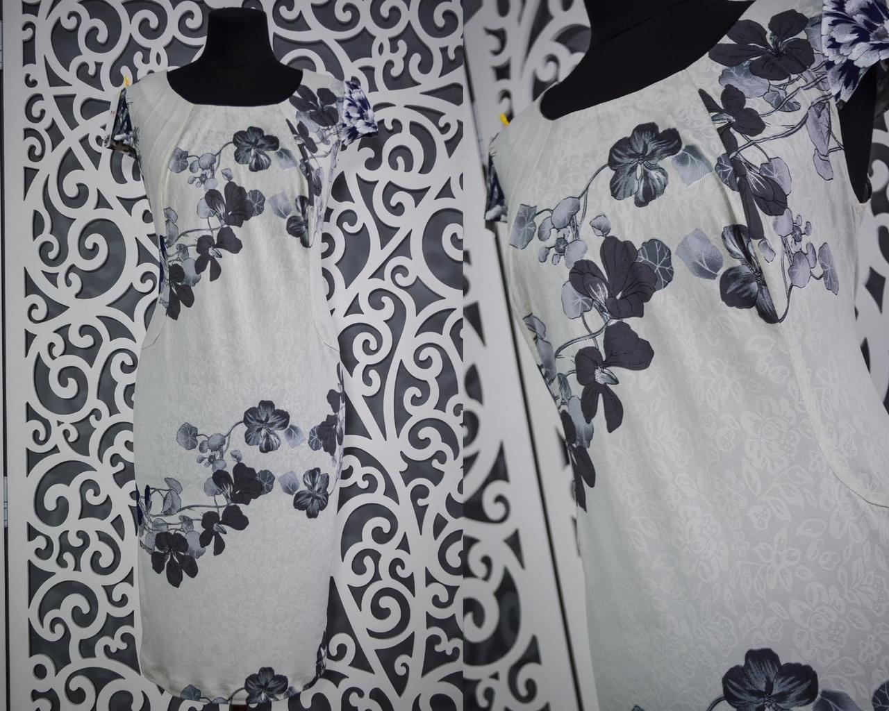 """Изумительное женское платье """"масло"""" 52 размер батал"""