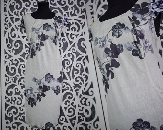"""Изумительное женское платье """"масло"""" 52 размер батал, фото 2"""