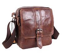 Стильная мужская кожаная сумка коричневая в винтажном стиле TR-5296-1