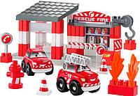 Конструктор Скоростное авто Пожарное депо Abrick, Ecoiffier