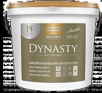 Краска интерьерная шелковисто-матовая Kolorit Dynasty Белая 9л