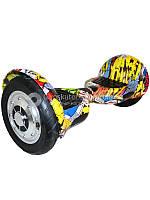 Гироскутер Smart Balance Wheel Suv 10 граффити желтый (+Mobile APP)