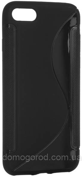 Чехол DiGi iPhone 7 - S-Line TPU Black (6315365)