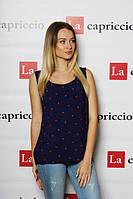 Блузка женская штапель со стильным принтом, фото 1