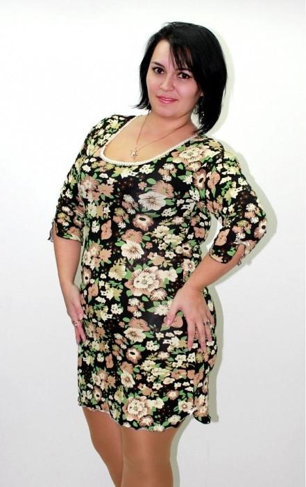 f1de9f85a0c0c02 Ночная сорочка, ночная рубашка, красивая домашняя одежда для дома, размеры  батал. Розница