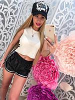 Летний женский комплект костюм шорты и майка топ тренд 2017!!!