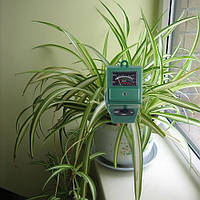 Садовий тестер 3-в-1, для контролю вологості, кислотності грунту і освітлення