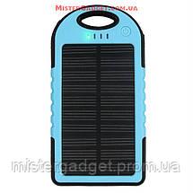 Внешний аккумулятор для телефона с фонариком. Солнечный Solar Powerbank 20000mAh, фото 2