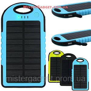 Внешний аккумулятор для телефона с фонариком. Солнечный Solar Powerbank 20000mAh