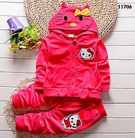 Велюровый костюм Hello Kitty для девочки. 90 см