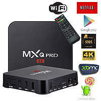 Смарт ТВ Приставка для Дома Android Smart TV Box MXQ Pro 4K 1Gb 8Gb 4 Ядра am, Тв приставка