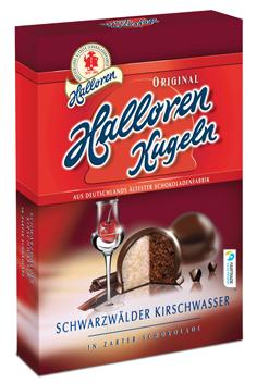 Шоколадные конфеты Halloren Kugeln Schwarzwälder Kirsch, 125 г.