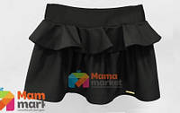 Юбка из костюмной ткани Baby Angel 680, цвет черный