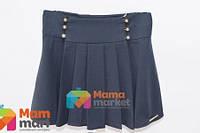 Школьная юбка из костюмной ткани Baby Angel 682, цвет синий