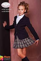Школьный пиджак из костюмной ткани Baby Angel 687, цвет синий